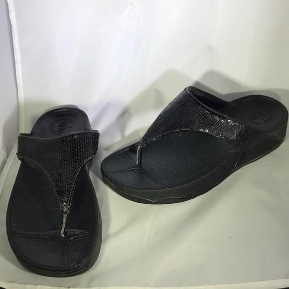 68dc93d14003c9 FitFlop Black Elegant Sandals Size 7